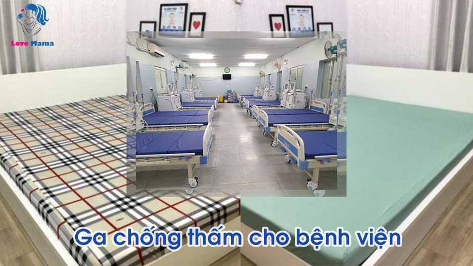 Ga chống thấm cho bệnh viện nhi, ga chống thấm cho giường bệnh viện
