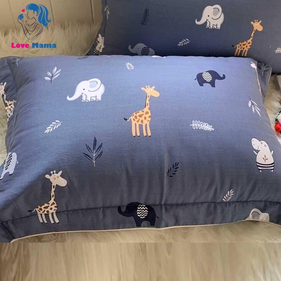 Áo gối chống thấm họa tiết thú rừng thiên nhiên màu xám xanh