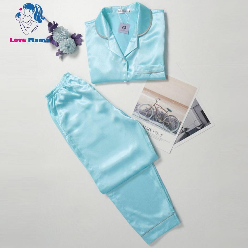 Đồ bộ lụa quần dài mặc nhà cho nữ Pijamama LoveMama
