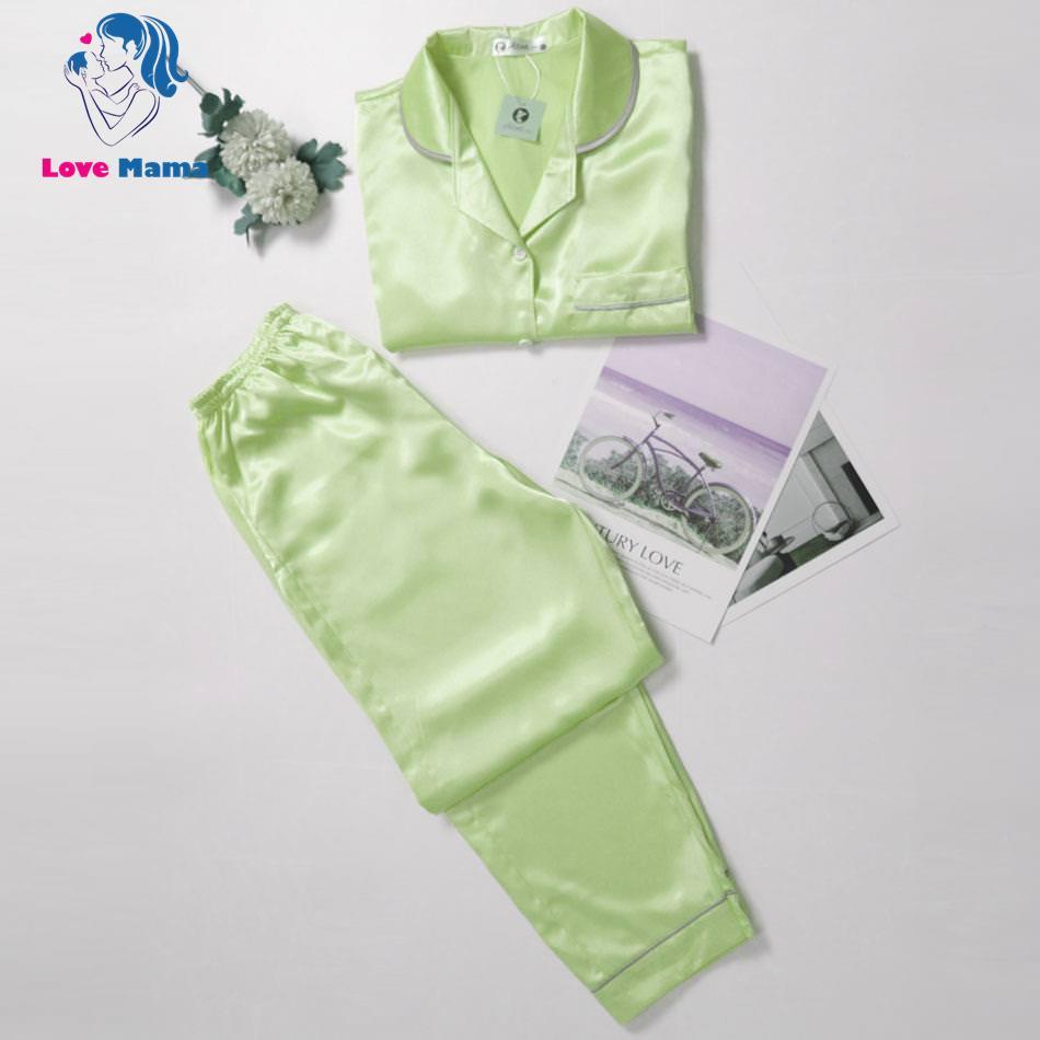 Đồ bộ lụa mặc nhà thiết kế độc lạ đẹp mắt cho nữ pijama LoveMama