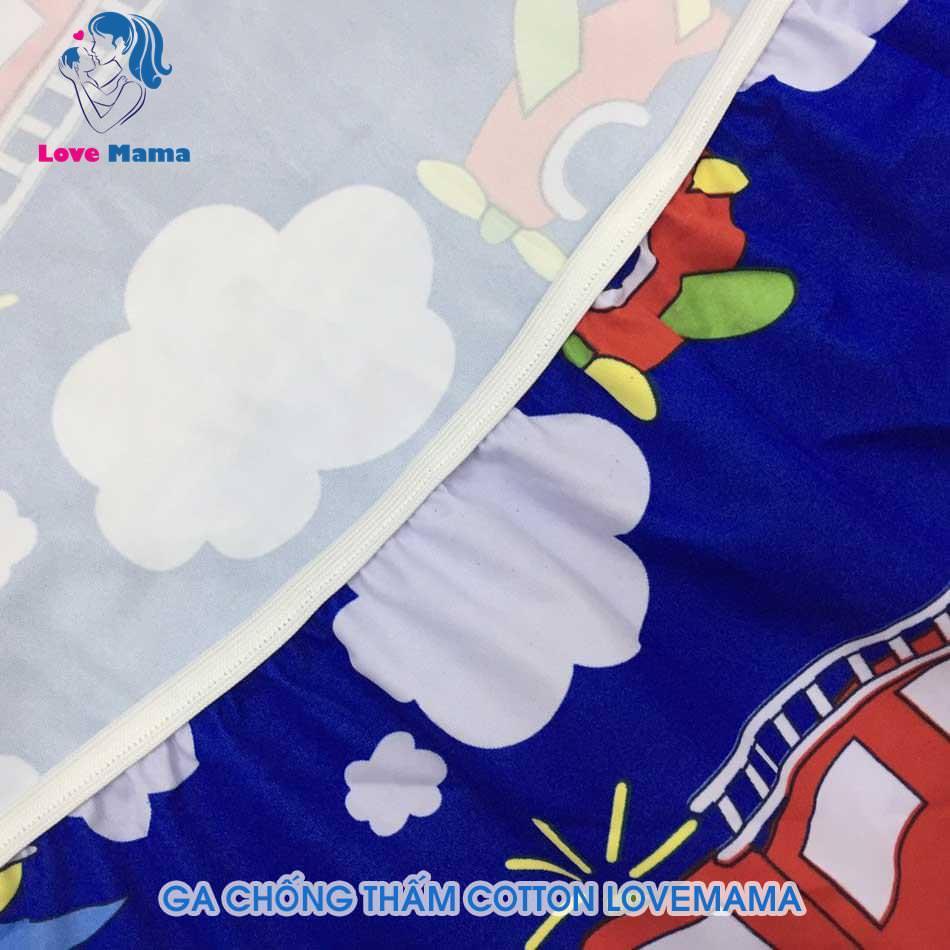Ga chống thấm bảo vệ đệm bọc đệm chống nước màu xanh họa tiết ô tô