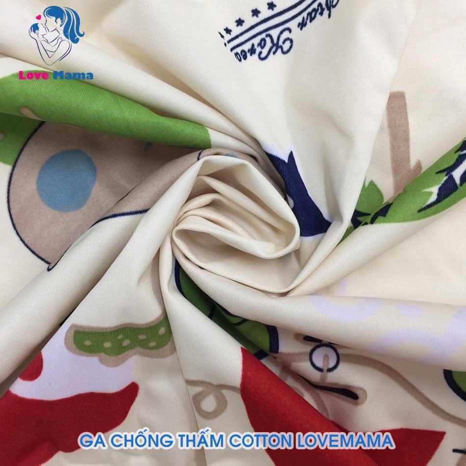 Ga chống thấm cao cấp họa tiết heo piggy vải cotton