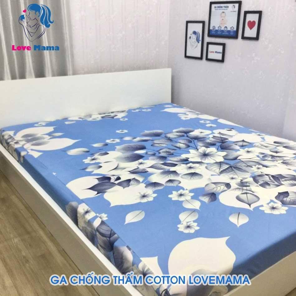 Ga chống thấm cao cấp họa tiết hoa văn giấy vải cotton