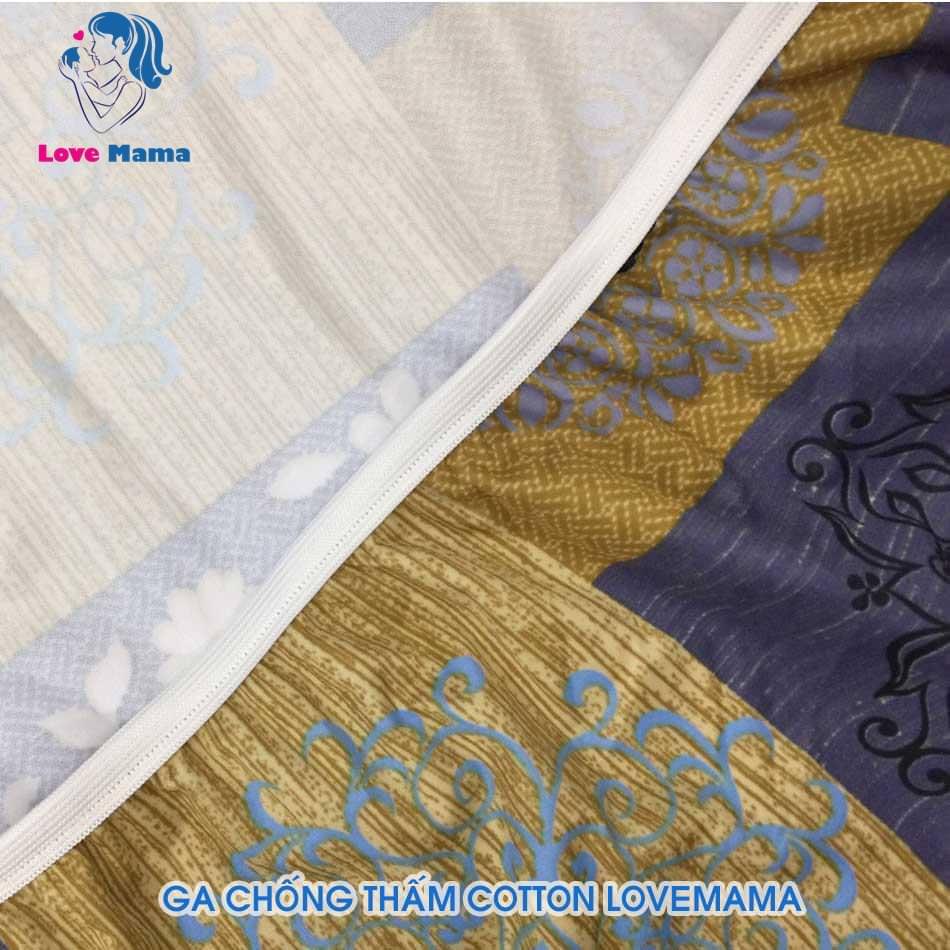 Ga chống thấm cotton họa tiết vân cổ điển hàng cao cấp
