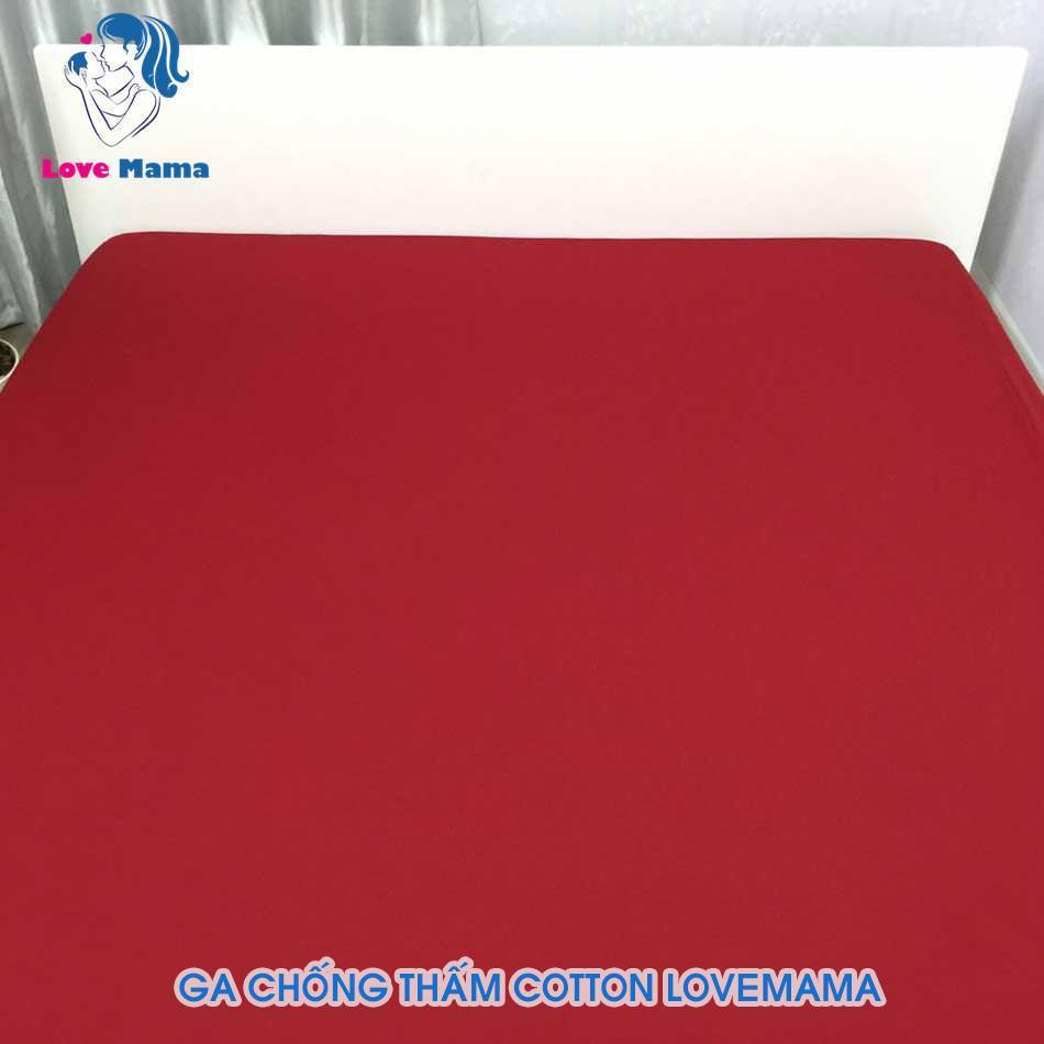 Ga chống thấm trơn màu đỏ vải Cotton phủ Nano chống thấm nước