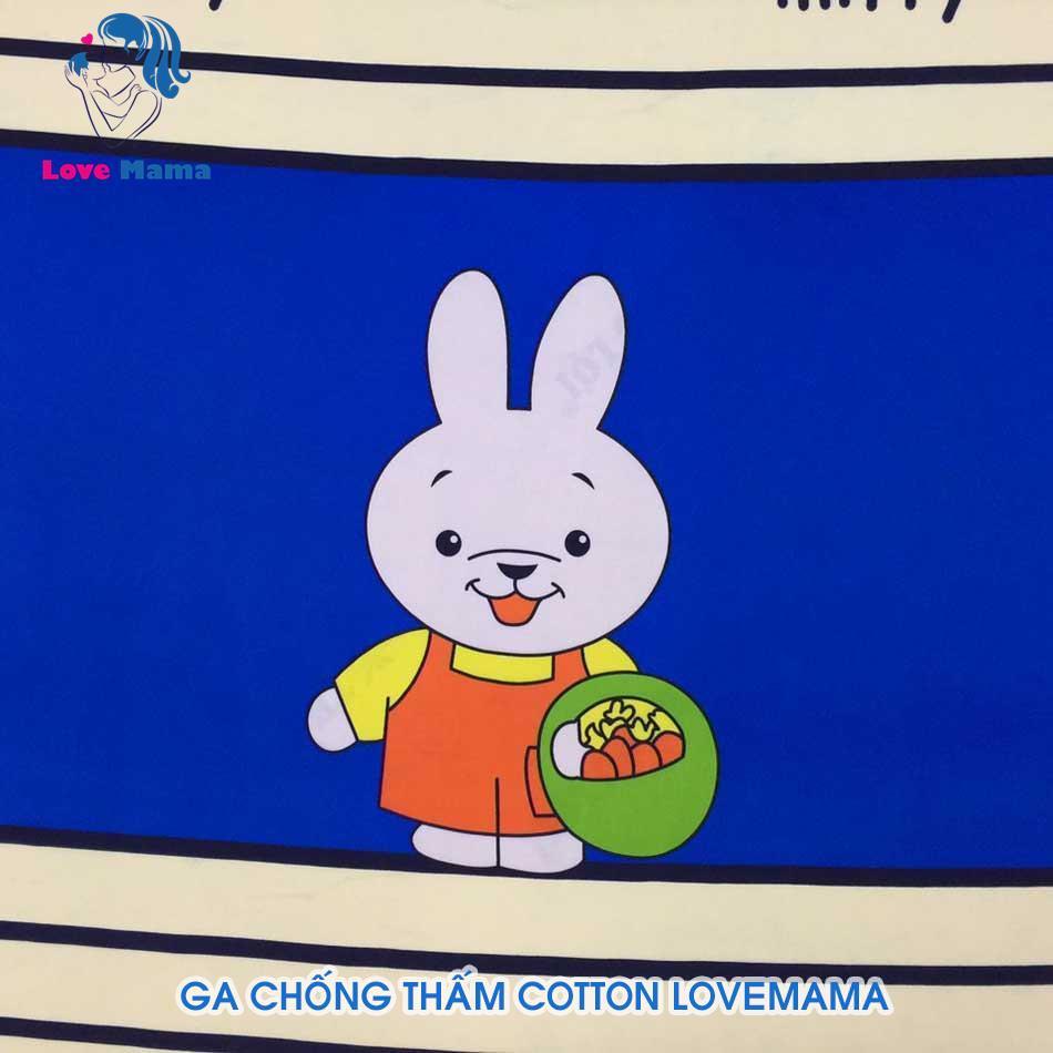Mua ga thống thấm nước vải cotton giá rẻ đẹp bền họa tiết thỏ miffy