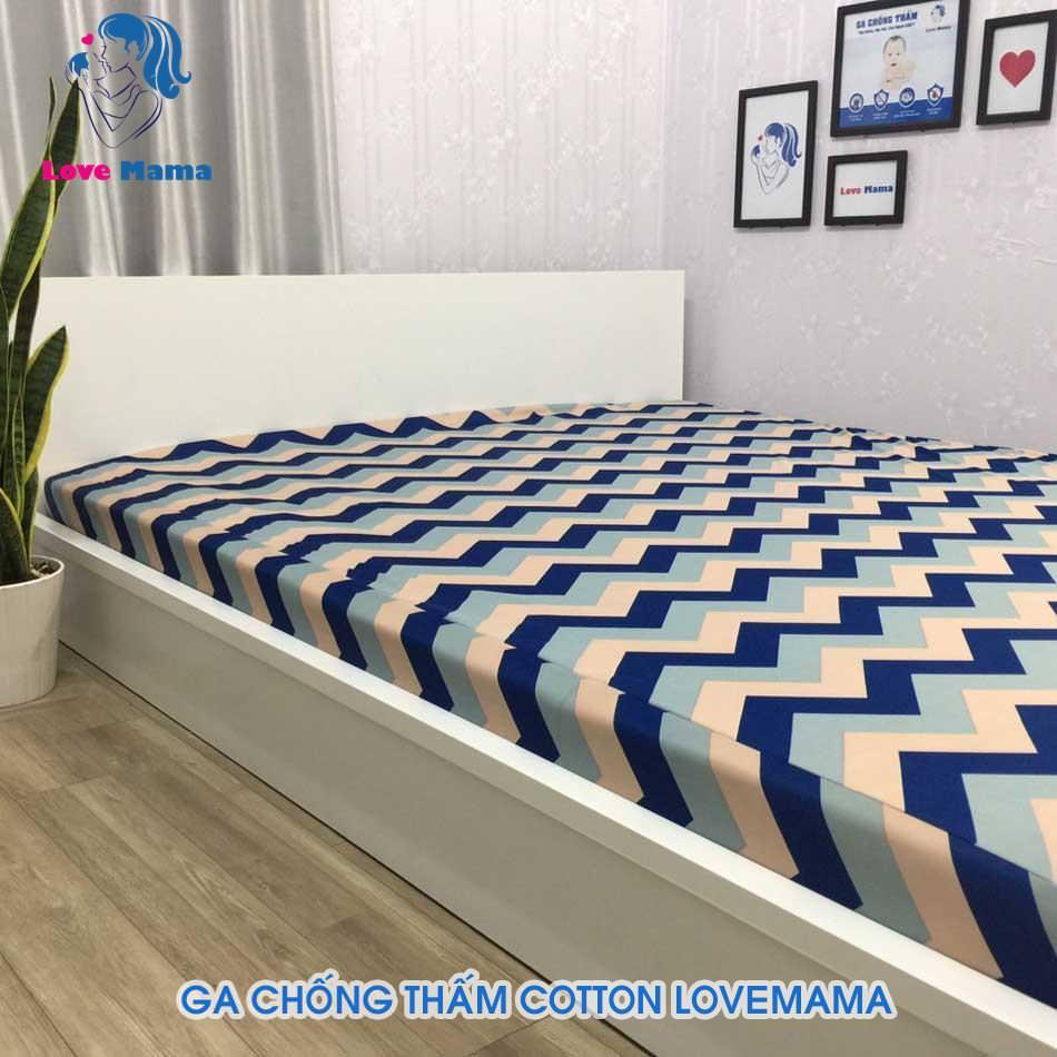 Ra giường chống thấm vải cotton phủ nano hình gợn sóng nhiều màu