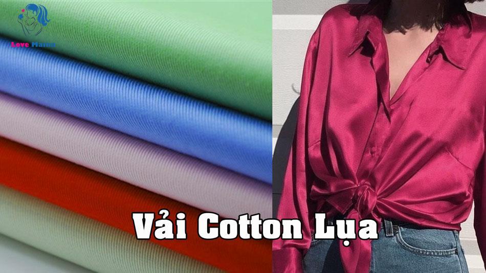 Vải Cotton Lụa là gì