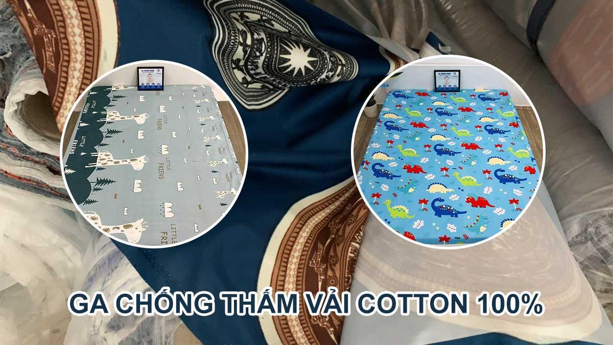 Ga chống thấm 100% vải Cotton