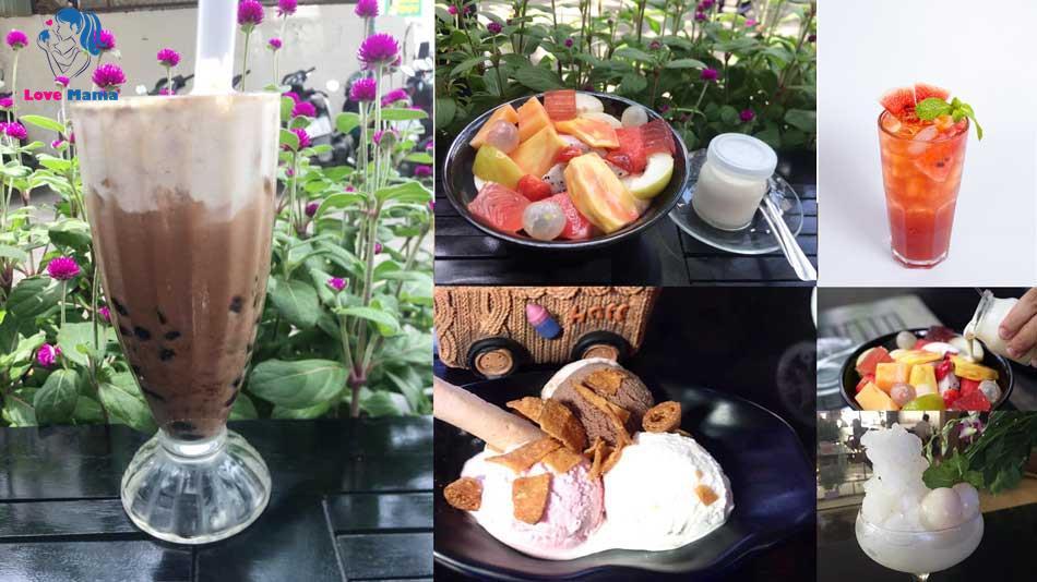 Menu nước uống quán cafe Liga Trịnh Đình Thảo